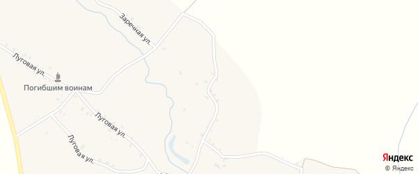 Заречная улица на карте деревни Меженики с номерами домов