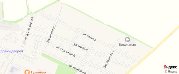 Улица Чехова на карте Стародуб с номерами домов