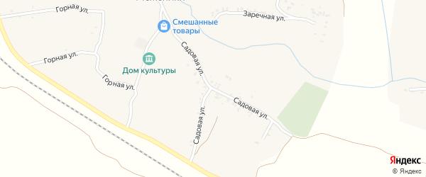 Садовая улица на карте деревни Меженики с номерами домов
