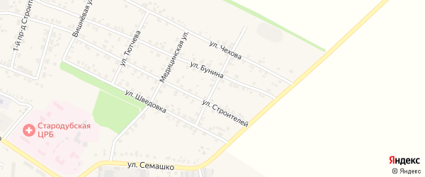 Березовая улица на карте Стародуб с номерами домов