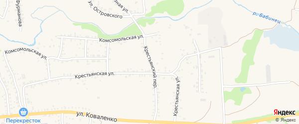 Крестьянский переулок на карте Стародуб с номерами домов