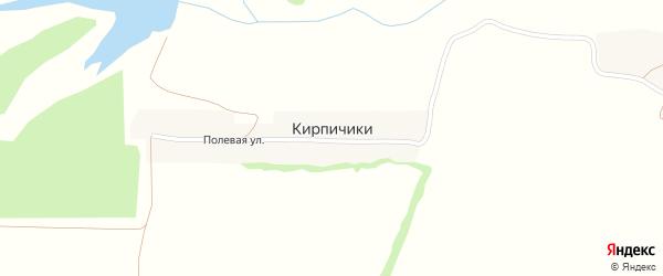 Полевая улица на карте поселка Кирпичики с номерами домов