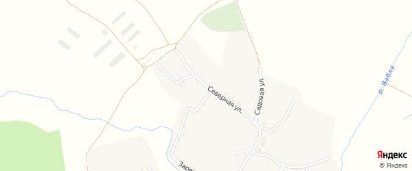Северная улица на карте села Пантусова с номерами домов