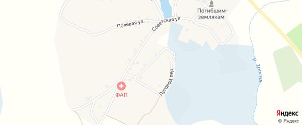 Луговой переулок на карте села Нетяговки с номерами домов