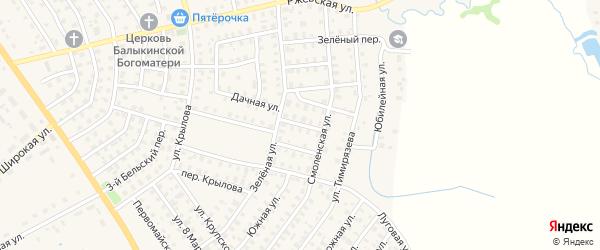 Смоленский 3-й проезд на карте Нелидово с номерами домов
