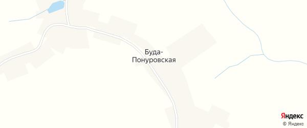 Улица Кулешова на карте села Буды-Понуровской с номерами домов