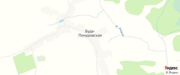 Карта села Буды-Понуровской в Брянской области с улицами и номерами домов