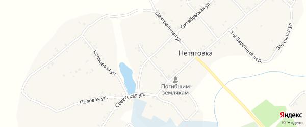 1-й Советский переулок на карте села Нетяговки с номерами домов