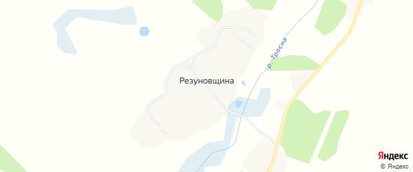 Карта поселка Резуновщины в Брянской области с улицами и номерами домов