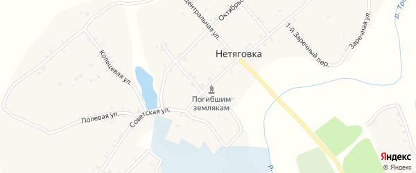 Советская улица на карте села Нетяговки с номерами домов
