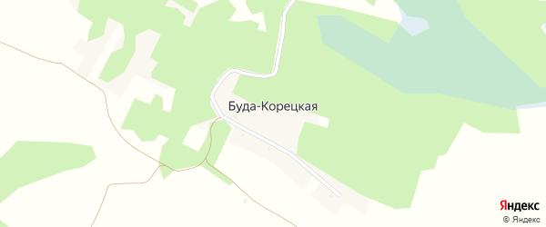 Центральная улица на карте Буды-Корецкой деревни с номерами домов