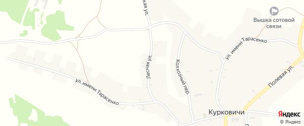Лесная улица на карте поселка Озерища с номерами домов