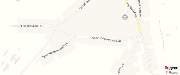 Красноленинская улица на карте села Курковичи с номерами домов