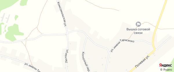 Комсомольская улица на карте деревни Вишенки с номерами домов