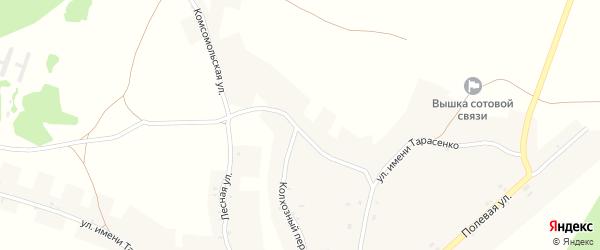 Комсомольская улица на карте села Курковичи с номерами домов