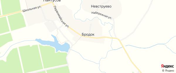 Карта поселка Бродка в Брянской области с улицами и номерами домов