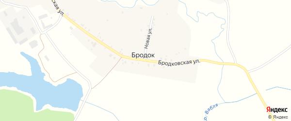 Бродковская улица на карте поселка Бродка с номерами домов