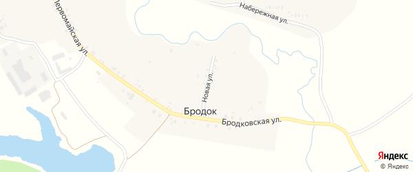 Новая улица на карте поселка Бродка с номерами домов
