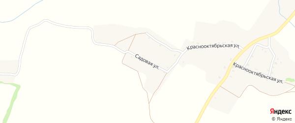 Садовая улица на карте села Печеники с номерами домов