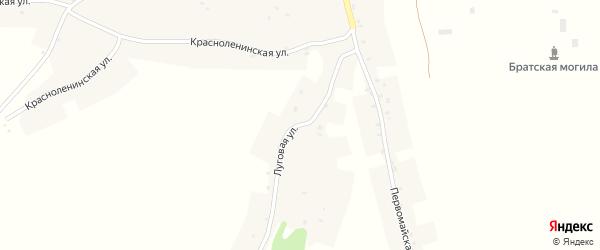 Луговая улица на карте поселка Волна с номерами домов