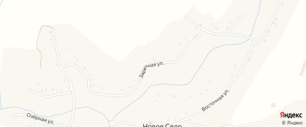 Заречная улица на карте села Нового Села с номерами домов