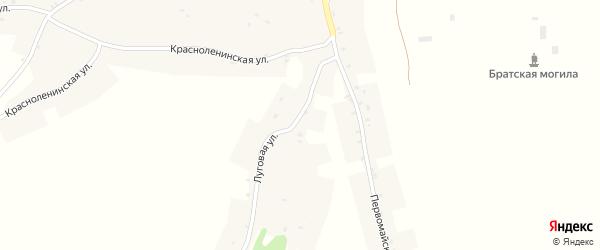 Луговая улица на карте села Курковичи с номерами домов