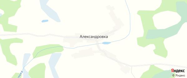 Карта деревни Александровки в Брянской области с улицами и номерами домов