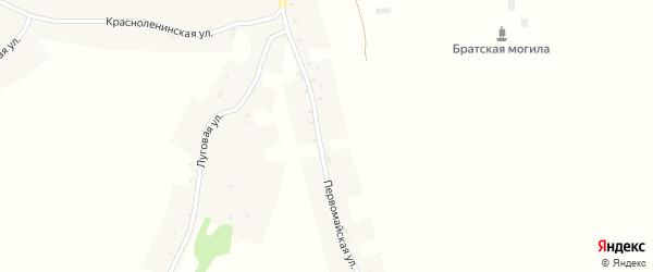 Первомайская улица на карте поселка Поляна с номерами домов