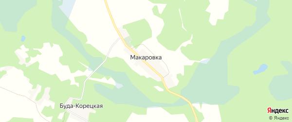 Карта деревни Макаровки в Брянской области с улицами и номерами домов