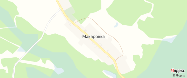 Октябрьская улица на карте деревни Макаровки с номерами домов