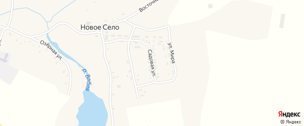 Садовая улица на карте села Нового Села с номерами домов