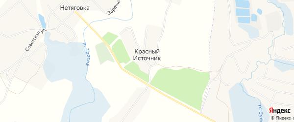 Карта поселка Красного Источника в Брянской области с улицами и номерами домов