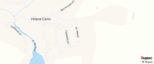 Улица Мира на карте села Нового Села с номерами домов
