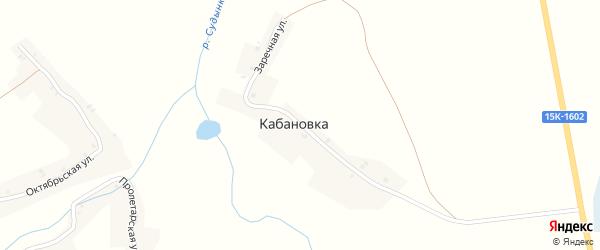Заречная улица на карте хутора Кабановки с номерами домов