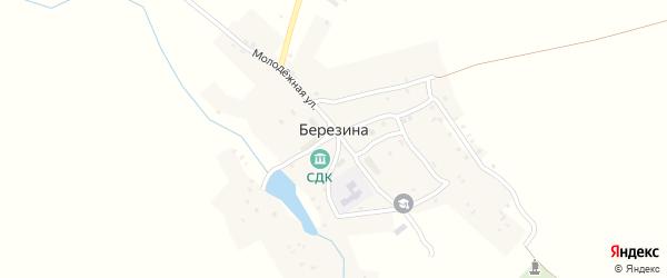 Новая улица на карте деревни Березина с номерами домов