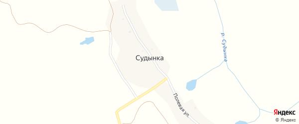 Полевая улица на карте деревни Судынки с номерами домов