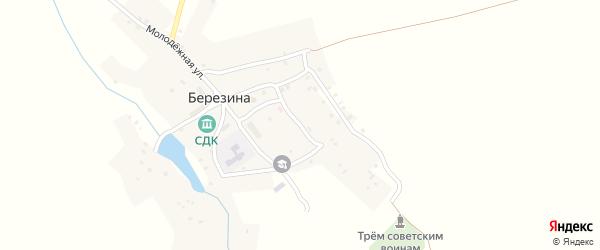 Садовый переулок на карте деревни Березина с номерами домов