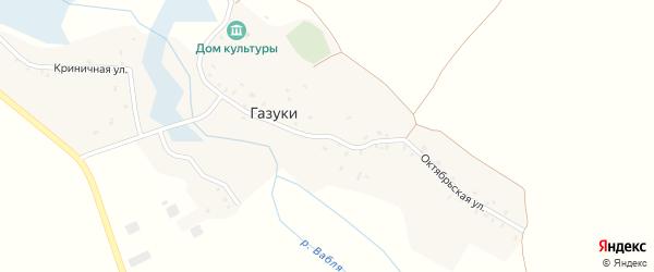 Октябрьская улица на карте села Нового Села с номерами домов