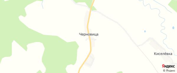 Карта деревни Черновицы в Брянской области с улицами и номерами домов