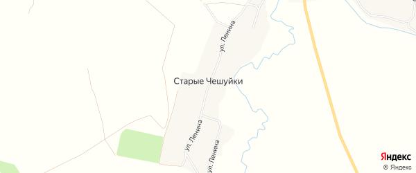 Карта деревни Старые Чешуйки в Брянской области с улицами и номерами домов
