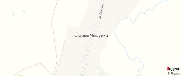 Речная улица на карте деревни Старые Чешуйки с номерами домов
