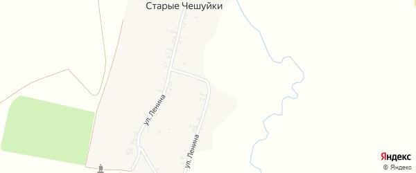 Улица Ленина на карте деревни Старые Чешуйки с номерами домов
