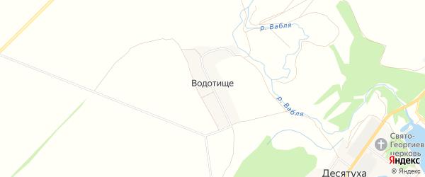 Карта поселка Водотища в Брянской области с улицами и номерами домов