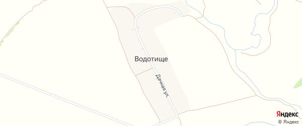 Дачная улица на карте поселка Водотища с номерами домов