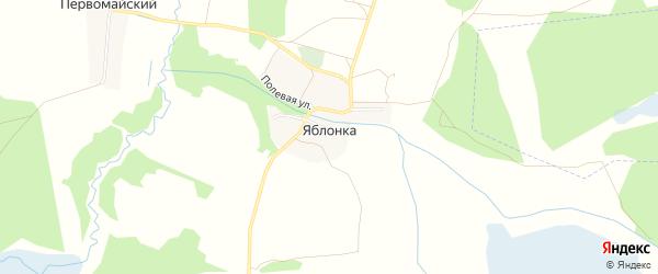 Карта деревни Яблонки в Брянской области с улицами и номерами домов