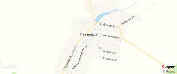 Карта села Павловки в Брянской области с улицами и номерами домов