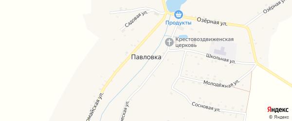 Заречный переулок на карте села Павловки с номерами домов