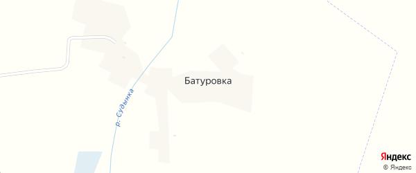 Луговая улица на карте деревни Батуровки с номерами домов