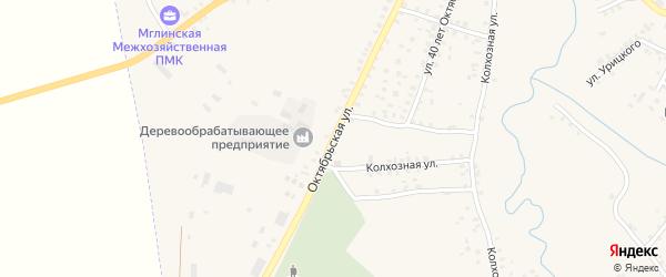 Октябрьская улица на карте Мглина с номерами домов