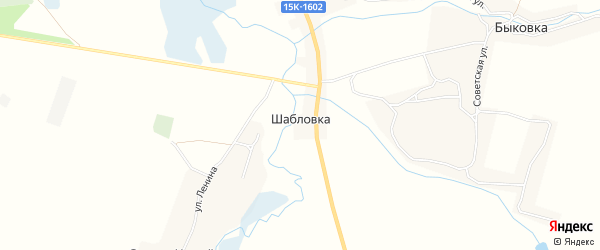 Карта поселка Шабловки в Брянской области с улицами и номерами домов